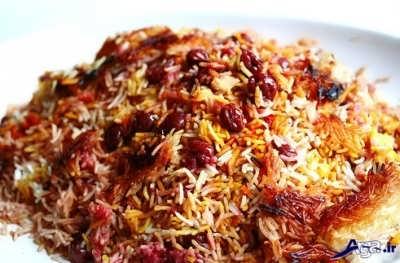 Cherry rice with chicken 6 - طرز تهیه آلبالو پلو با مرغ لذیذ و خوش طعم