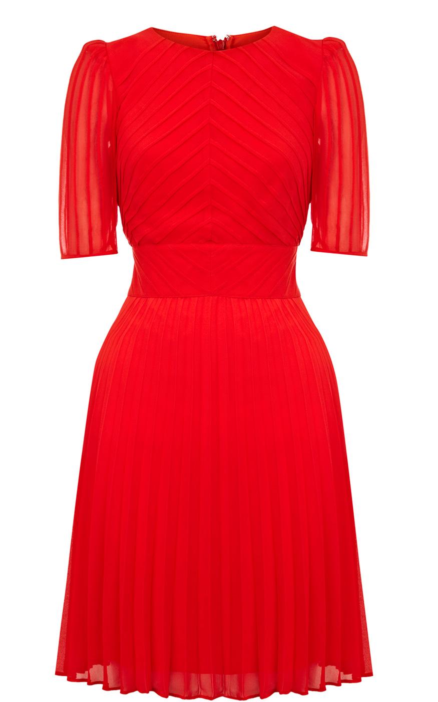 Karen Millen Red Pintuck Cute Dress Womens 758 1 - آداب میزبانی و میهمانی در ضیافت شب یلدا بلندترین شب سال