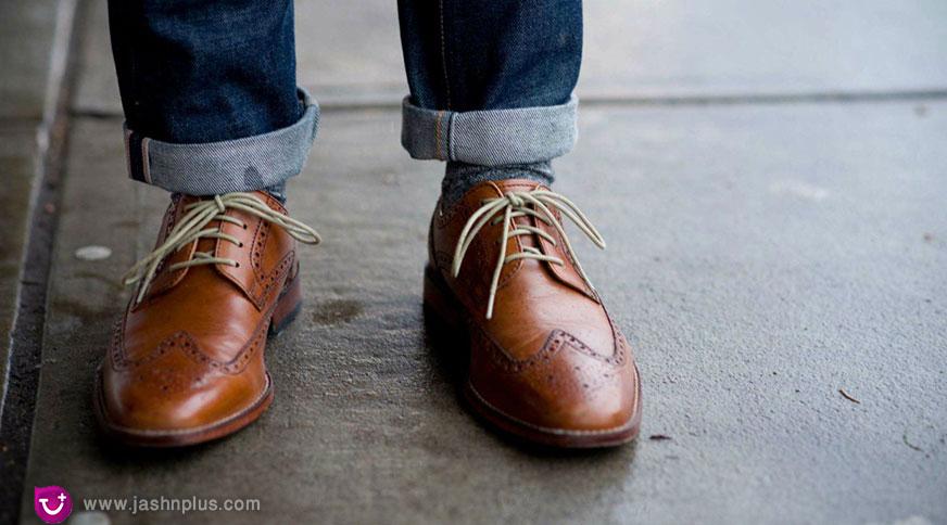 MEN Brogue SHOES BROWN SMART STYLE 1 - نکته ضروری برای مردان خوش تیپ امروزی (کفش مناسب مردانه)