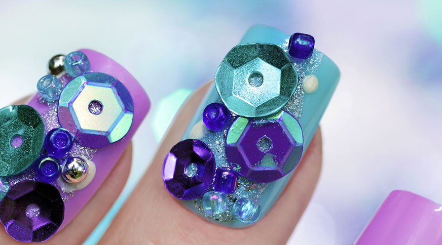 artificial nail - مدل ناخن هیجان انگیز برای میهمانی