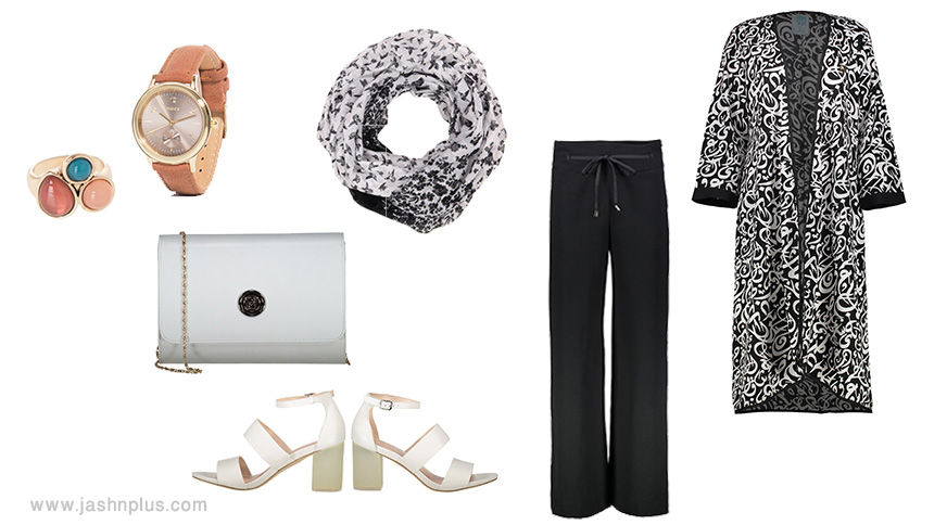 black and white women style 1 - ۶ مدل مانتو مجلسی با مد 2018 برای یک مهمانی خاص