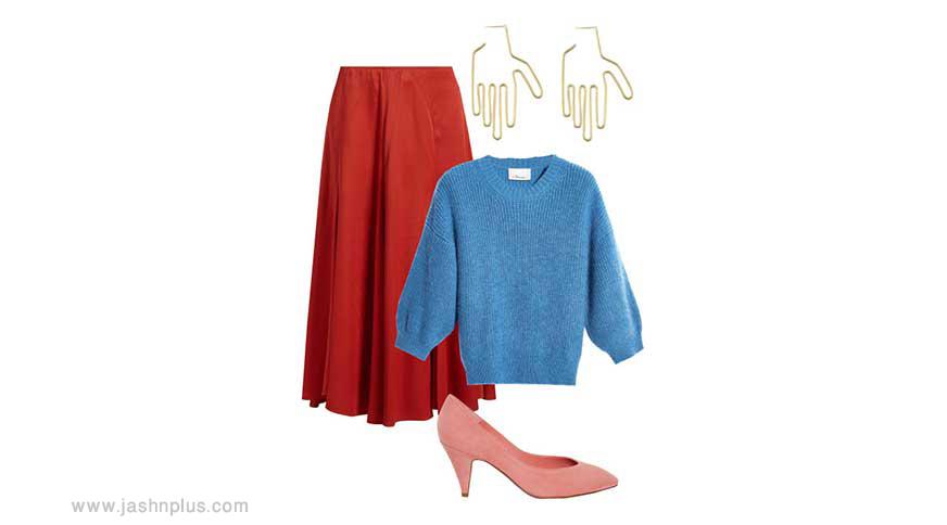colorful set - ایدههای لباس رنگی رنگی برای میهمانی