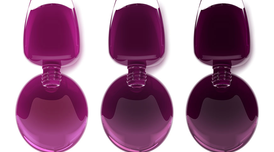 deep grape nail polish - کدام رنگ لاک برای پوست شما در میهمانی جذاب تر است؟