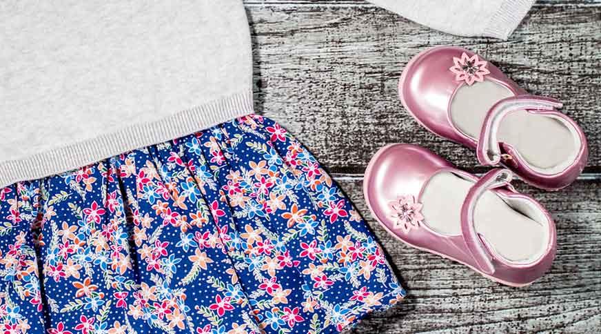 girl flat pink shoes - پیشنهاد خرید کفش دخترانه برای میهمانی باشکوه