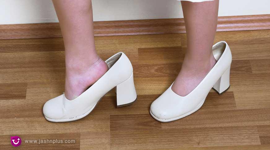 girl heels whit shoes - پیشنهاد خرید کفش دخترانه برای میهمانی باشکوه