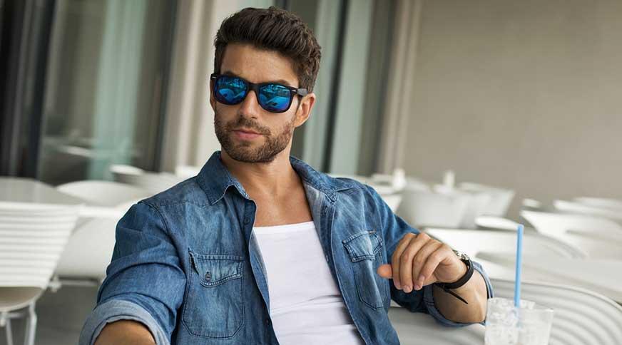 handsome guy with sunglasses - خوشتیپ و متفاوت شدن با هشت نکته