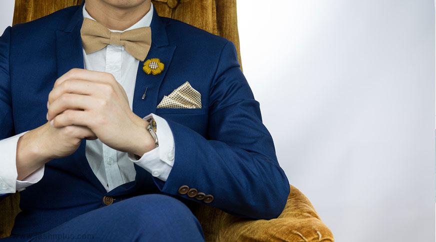 men bow tie colorful style - اکسسوریهای مردانه از کمربند چرم تا دکمه سر دست برای یک میهمانی با شکوه