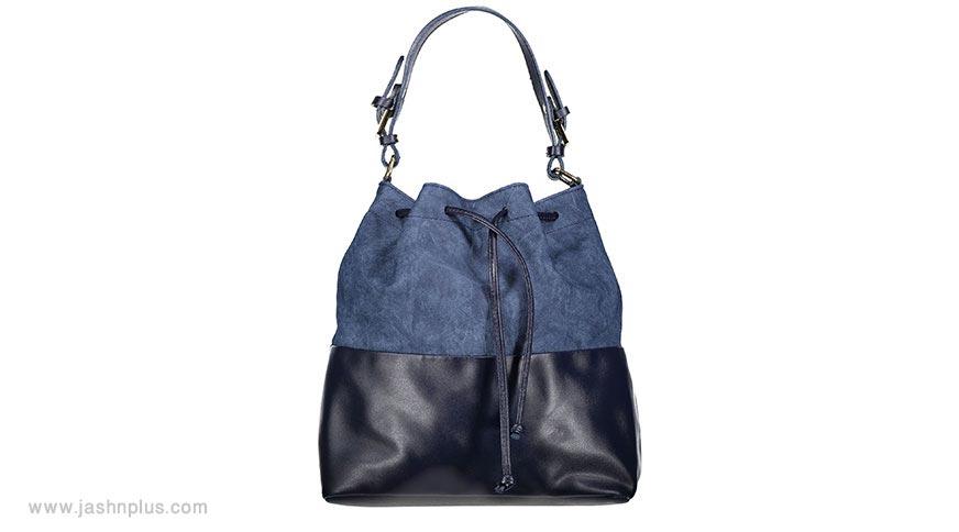navy drawstring bag 1 - مدل جذاب و دوست داشتنی کیف زنانه برای میهمانی
