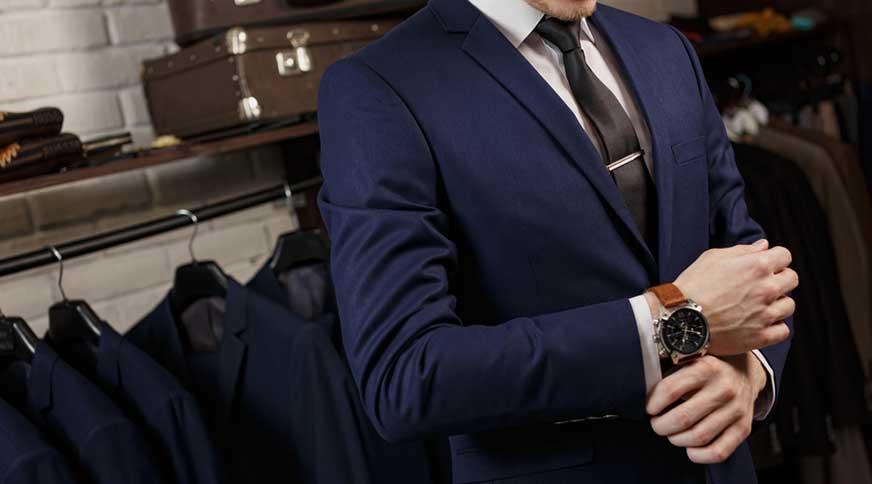 navy men suit - مدل های لباس مردانه و اکسسوری جذاب برای میهمانی