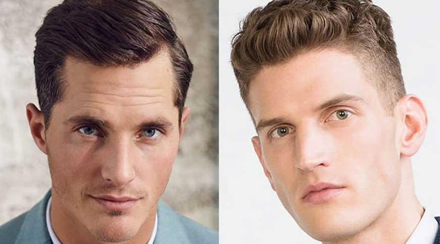 oval example - مدل موی مردانه برای انواع فرم صورت در میهمانی خاص