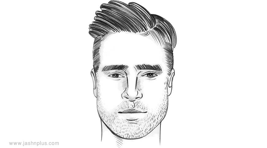 oval hair - مدل موی مردانه برای انواع فرم صورت در میهمانی خاص