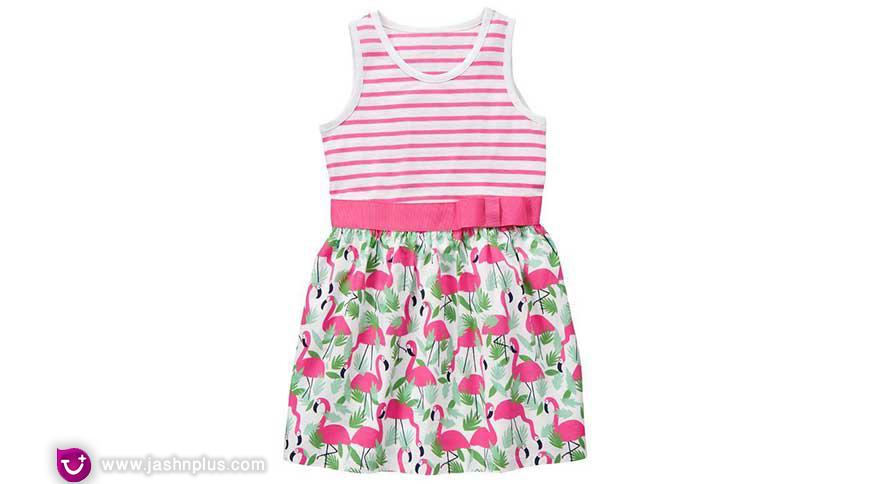 printed dress for baby girl - لباس بچگانه دخترانه برای شرکت در میهمانی جذاب