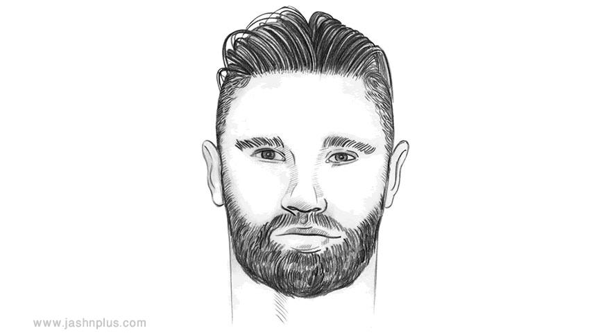 round face shaped - مدل موی مردانه برای انواع فرم صورت در میهمانی خاص
