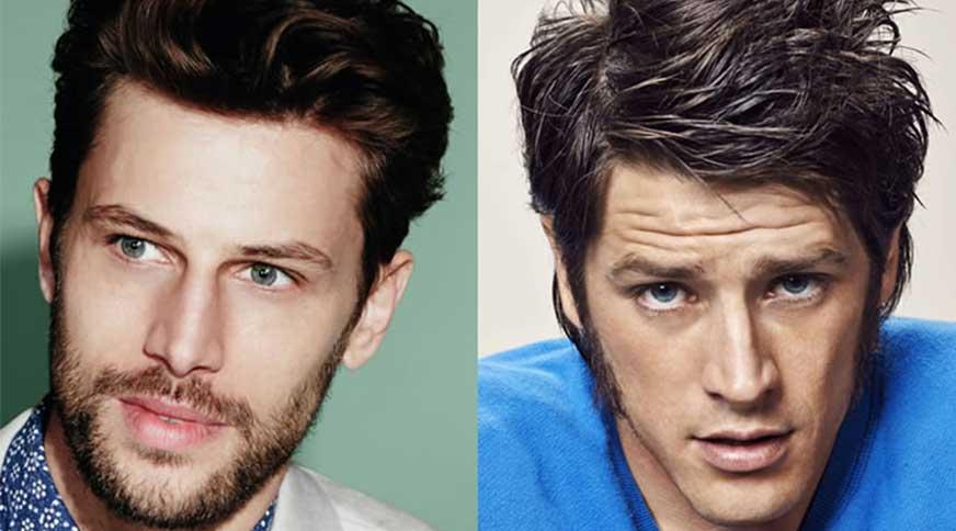triangle example - مدل موی مردانه برای انواع فرم صورت در میهمانی خاص