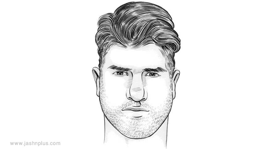 triangle hair - مدل موی مردانه برای انواع فرم صورت در میهمانی خاص