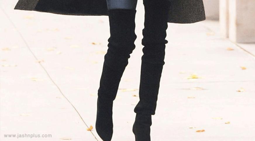 women black boots - قد بلندها برای میهمانی کدام مدل لباس را بپوشند،کدام را نپوشند؟