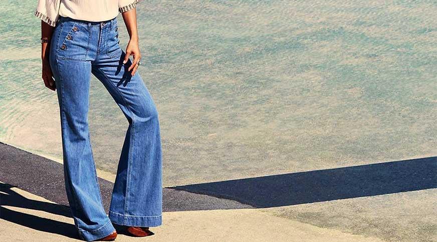 women flared jeans 1 - برای یک تیپ هنری در میهمانی