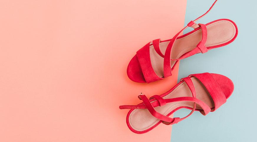 women strap red sandals - مدل صندل زنانه و کفش تابستانی برای میهمانی