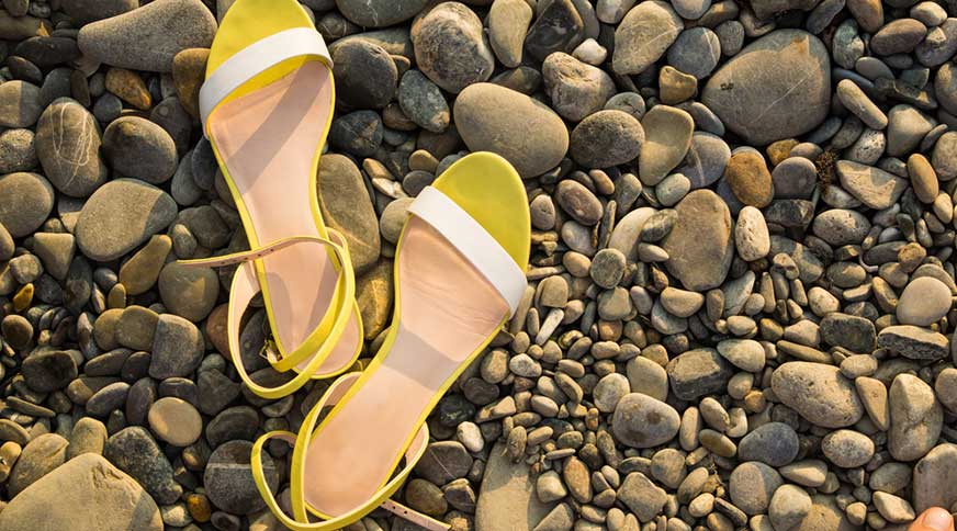 women summer yellow sandals - مدل صندل زنانه و کفش تابستانی برای میهمانی