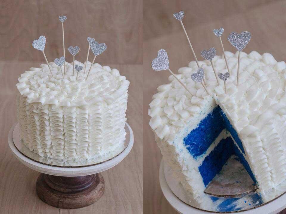 کیک جشن تعیین نوزاد 25 - بهترین ایده ها برای برگزاری یک جشن تعیین جنسیت با شکوه