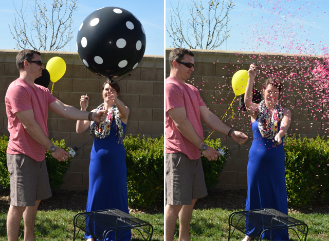 Balloon Pop Gender Reveal 1 - بهترین ایده ها برای برگزاری یک جشن تعیین جنسیت با شکوه