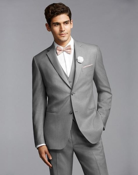 Light Grey Casual Prom Wear Custome Made Men s Wedding Tuxedos Informal Business Suits jacket Pants - چگونه در مهمانی ها مردی جذاب باشیم؟!