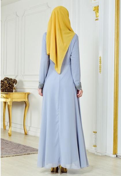 10 - لباس مجلسی پوشیده شیک و بلند برای مهمانی های مختلط