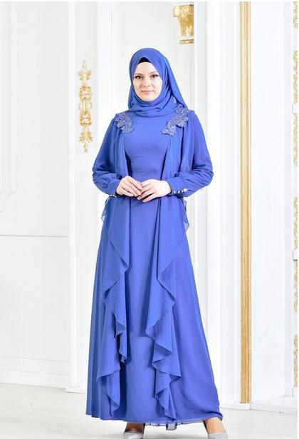 11 - لباس مجلسی پوشیده شیک و بلند برای مهمانی های مختلط
