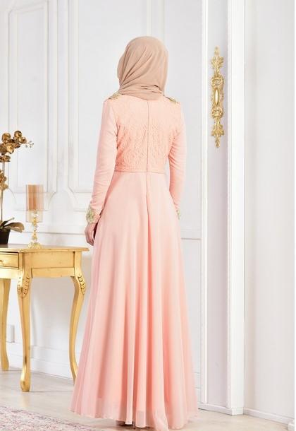 6 - لباس مجلسی پوشیده شیک و بلند برای مهمانی های مختلط