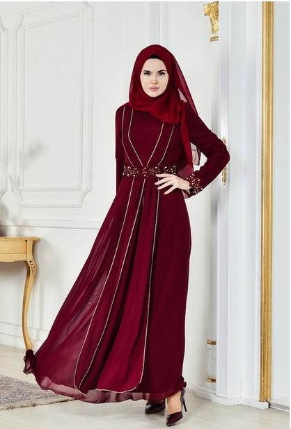 7 - لباس مجلسی پوشیده شیک و بلند برای مهمانی های مختلط