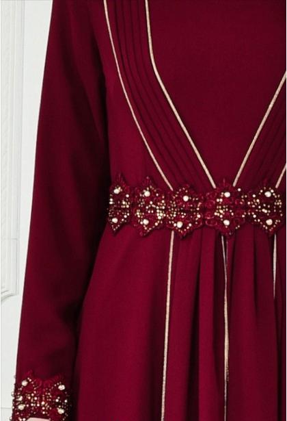 8 - لباس مجلسی پوشیده شیک و بلند برای مهمانی های مختلط