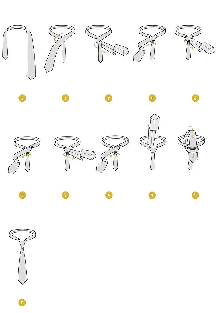 ویجک2 - آموزش انواع گره زدن کراوات و مدل های مختلف آن