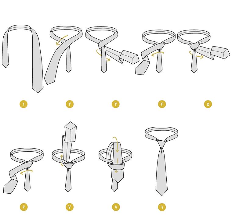 آلبرت - آموزش انواع گره زدن کراوات و مدل های مختلف آن