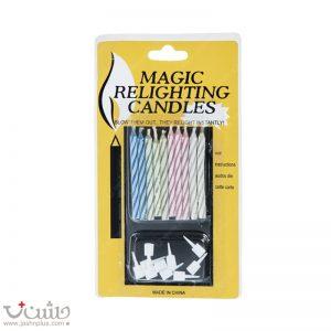 شمع مدل Magic بسته 10 عددي