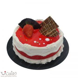 کیک وانیلی لادن زیبا