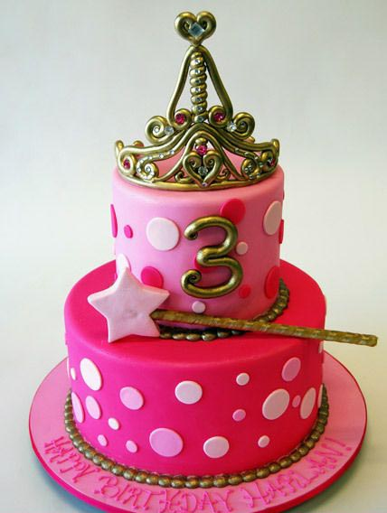 تولد پرنسسی 14 - کیک تولد مدل پرنسسی برای تولدهای دخترانه