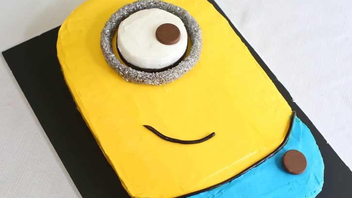 تولد مینیون 21 - آموزش گام به گام تزیین کیک مینیون در منزل