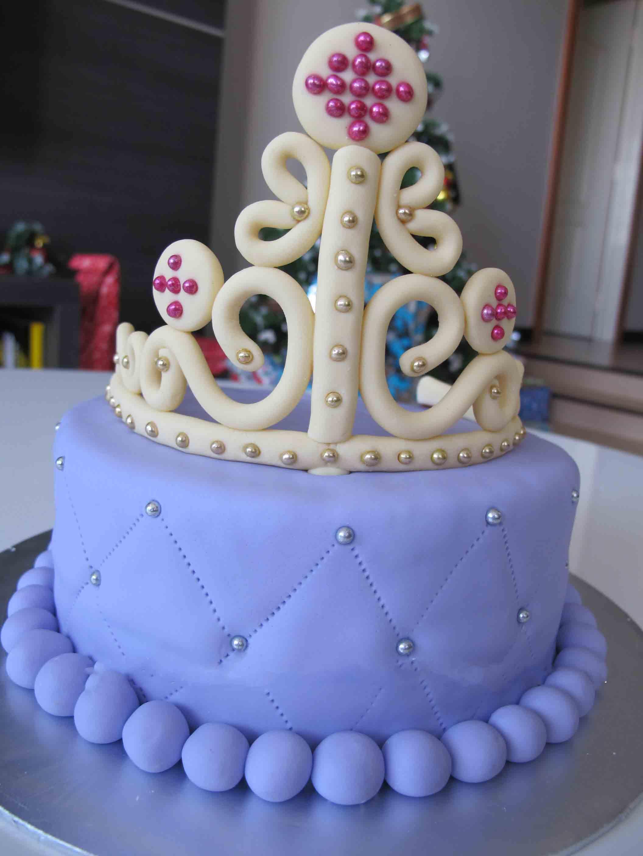 تولد پرنسسی 12 - کیک تولد مدل پرنسسی برای تولدهای دخترانه
