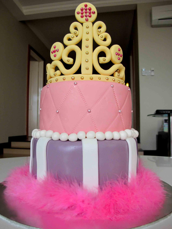 تولد پرنسسی 13 - کیک تولد مدل پرنسسی برای تولدهای دخترانه