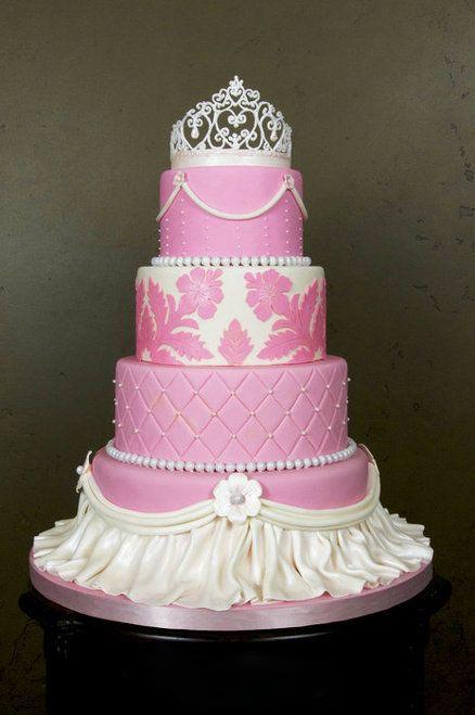 تولد پرنسسی 15 - کیک تولد مدل پرنسسی برای تولدهای دخترانه