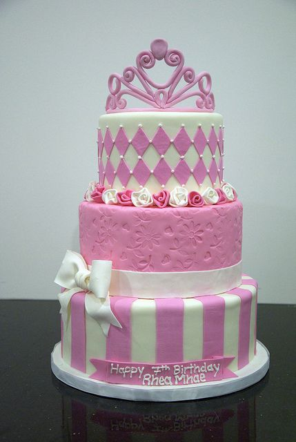 تولد پرنسسی 6 - کیک تولد مدل پرنسسی برای تولدهای دخترانه
