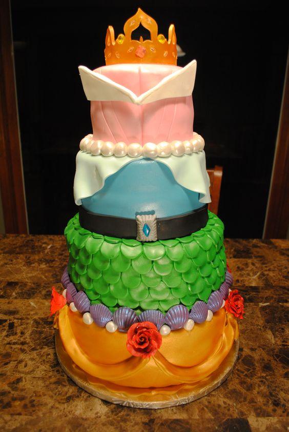 تولد پرنسسی 8 - کیک تولد مدل پرنسسی برای تولدهای دخترانه