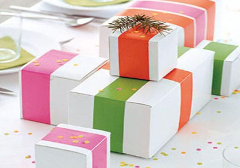 روش ساده برای تزیین جعبه های کادو Colored paper - تزیین جعبه های هدیه با 14 روش خلاقانه