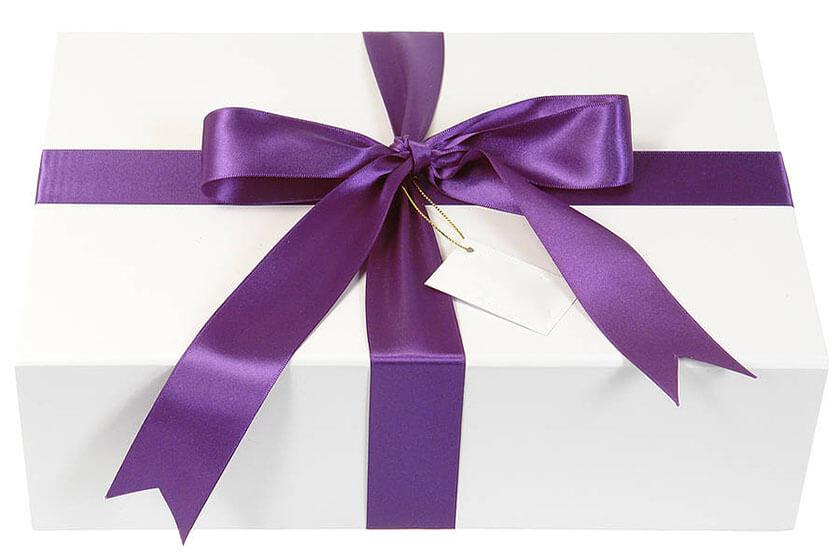 روش ساده برای تزیین جعبه های کادو Purple Ribbon - تزیین جعبه های هدیه با 14 روش خلاقانه
