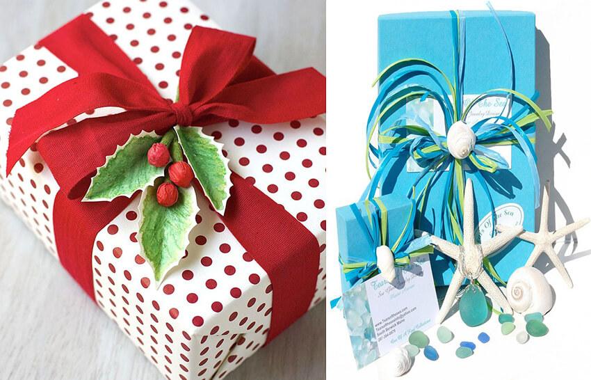 روش ساده برای تزیین جعبه های کادو gift wrapping - تزیین جعبه های هدیه با 14 روش خلاقانه