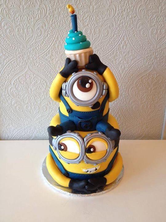 00818f8855fe1b85688def459b7aab75 - کیک تولد مینیون مخصوص تولد کودک