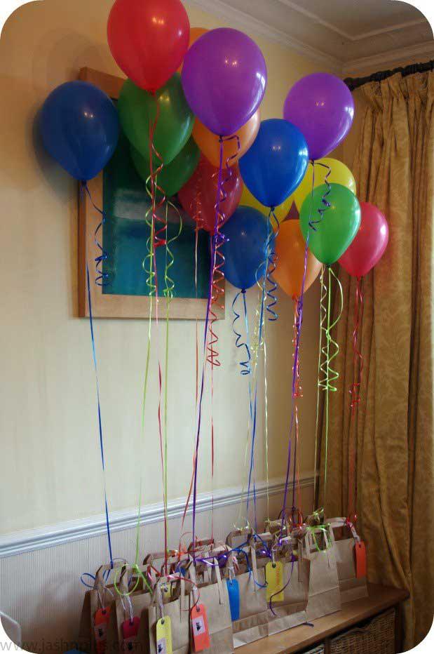 369 - ایدههای خلاقانه برای تزیین جشنهای تولد با بادکنک رنگی