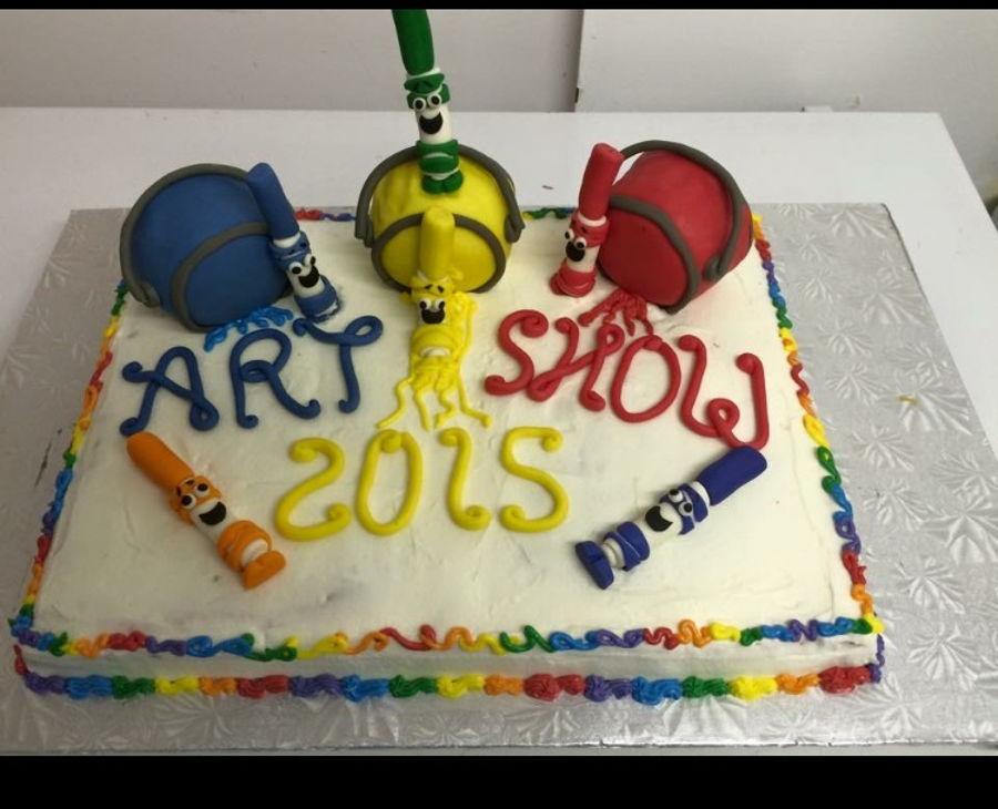 900 art show cake 51539unpf0 - کیک تولد با تم کودکانه