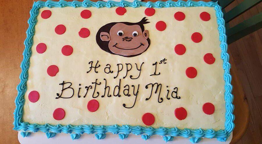 900 curious george for a 1 year old 724182DJay8 - کیک تولد با تم کودکانه