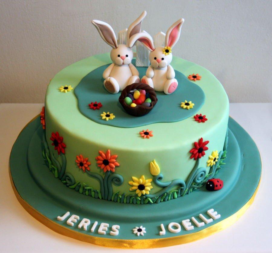900 easter cake 977829XYGpF - کیک تولد با تم کودکانه